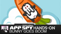 Hands-on with Bunny Goes Boom, where a rabbit is strapped to a carrot rocket