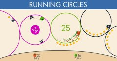 Tap to navigate circles endlessly in Running Circles out now on Android