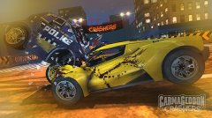 Face your foes head on in Carmageddon: Crashers, available on iOS and Android