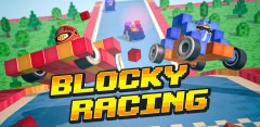Go back to your kart racing roots in Blocky Racing
