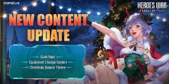 Heroes War: Counterattack's winter update brings Guild Raids to the mobile RPG