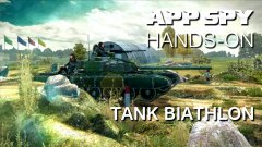 Hands-on with Tank Biathlon, where tanks are raced to see which team can smash a shed in the fastest time
