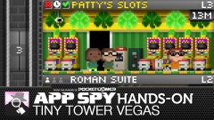 Hands-on with Tiny Tower Vegas, where gambling with slot machines and adorable pixel art combine