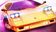 Asphalt Overdrive trailer has an 80s soundtrack, classic vehicles, car backflips, bacon outrunning, and loads of neon