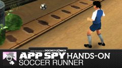 Hands-on with Soccer Runner, the footie-focused endless runner featuring... Mr. Miyagi...?