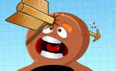 6 wince-inducing crotch busting shots from Gingerbread Stickman Shooting Showdown
