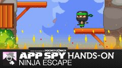 Hands-on with Ninja Escape, the Timberman-style leap-'em-up with agile pandas