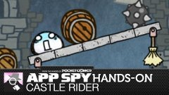 Hands-on with Castle Rider, where a small white blob must collect stars and avoid being frozen