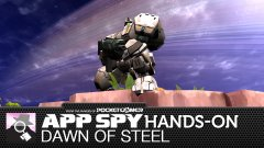 Hands-on with Dawn of Steel, in which a government agency thinks I'm responsible enough to pilot a walking tank