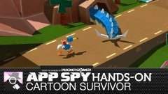 Hands-on with Cartoon Survivor, where a bird has explosives strapped to its butt