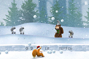 Screenshot from Snow Brawlin'